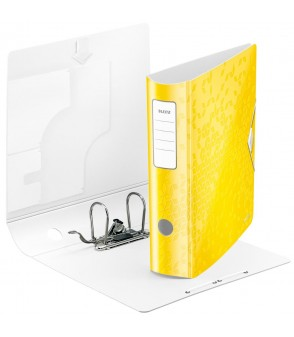 Classeur LEITZ wow 82mm - Jaune citron