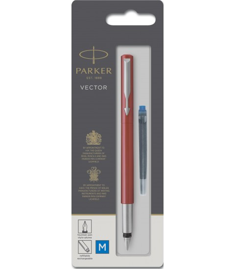 Stylo plume Vector - Corps rouge - Paker