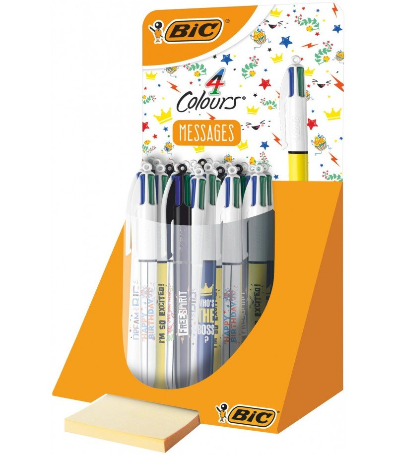 Bic 4 couleurs messages - BIC