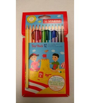 Stabylo gros crayons couleurs