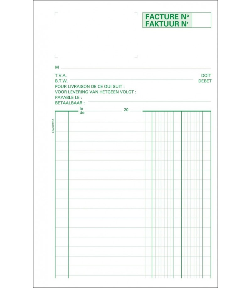 Exacompta - Carnet facture A5