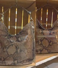 Sac cuir python